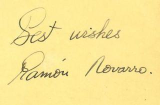 RAMON NOVARRO VINTAGE 1930s ORIGINAL SIGNED ALBUM PAGE AUTOGRAPHED