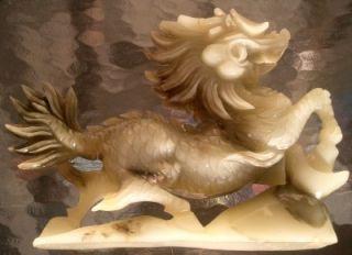 Antique Jade Jadite Foo Dog Lion Chimera Estate Find Statue Carving No