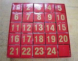 Maret Christmas Advent Calendar Boxes Boxes Form 4 Puzzles