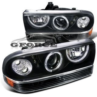 98 04 Chevy S10 Dual Halo Projector SMD LED Headlights Bumper Lamps