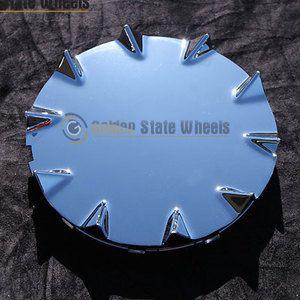 New Chrome Chevy SSR Wheel Hub Center Caps F R