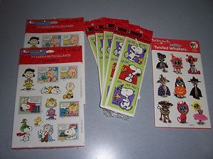 Snoopy Woodstock Lucy Charlie Brown Linus and Sally Stickers