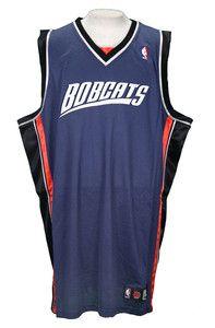 NBA Charlotte Bobcats Authentic Blank Adidas Jersey Blue Size 40