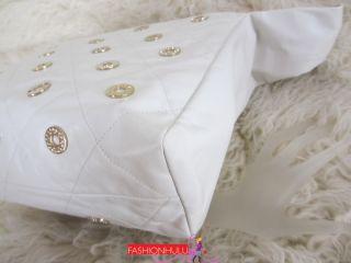 Authentic CHANEL Lambskin Swarovski Crystal Charm Hobo Handbag