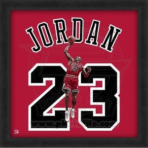 Chicago Bulls Michael Jordan Framed Jersey Photograph