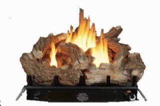 24 34 000 BTU Vent Free Dual Fuel Gas Log Fireplace Set