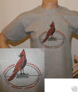 Retro Chicago Cardinals T Shirt 4 Arizona Fans Any Size