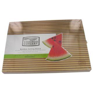 Chicago Cutlery 1075494 12 x 16 x 1 Two Tone Bamboo Cutting Board