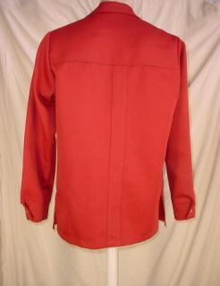 Vintage Levis Panatela Tops Mens Casual Button Front Shirt Red Size