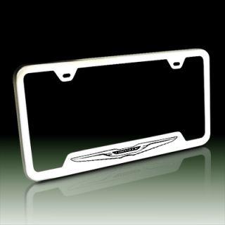 Chrysler New Logo Polish Steel Auto License Frame, Lifetime Warranty