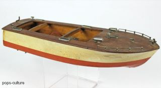 vintage chris craft style wooden model boat vintage chris craft style