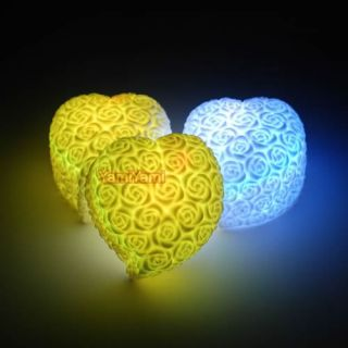 Chang Color LED Rose Heart Torch Light Lamp Bright
