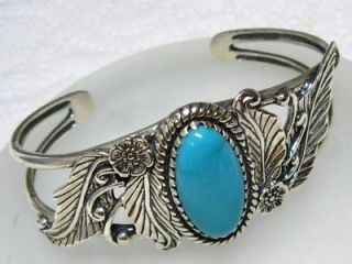 Relios Carolyn Pollack Sterling Turquoise Cuff Bracelet
