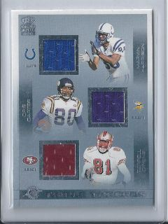 Chris Carter Marvin Harrison Terrell Owens Crown Royal Triple Threads
