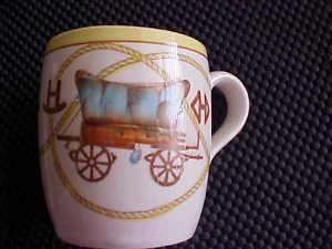 Fred Roberts Co Chuck Wagon Trail Western Coffee Mug
