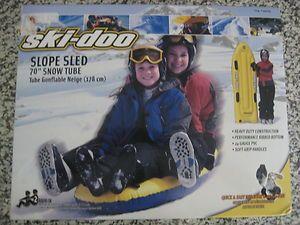 NIB Inflatable Ski Doo Slope Sled   70 Snow Tube