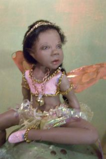 OOAK Fairy Ethnic Pretty Young Faerie Art Doll 6 Sculpture Christel