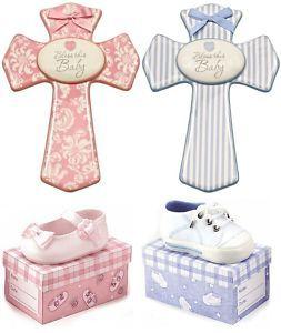 Baby Shoe Girl Boy Shower Christening Gift Wall Cross