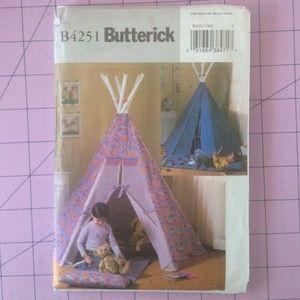 Mat Pattern Butterick 4251 Indoor Play Area Kids Room Childrens Decor