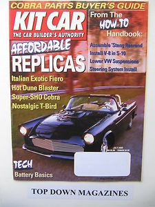 Kit Car Magazine July 2000 Bruce Golden 427 Cobra Replica