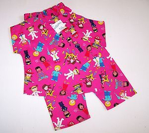 Girl Power Kids Scrubs w Pants from PG Designs Large