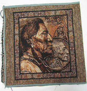David Behrens Native American Five Cent Piece Buffalo Nickel Tapestry