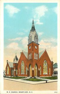 NC MOUNT AIRY M. E. CHURCH TOWN VIEW VERY EARLY T36109