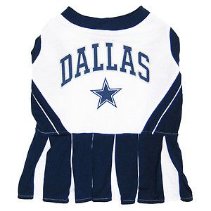 NFL Dallas Cowboys Cheerleader Dog Pet Dress Sports Costume Medium