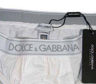 Dolce Gabbana Pure Mens Logo Brando Brief Stretch Cotton D G White