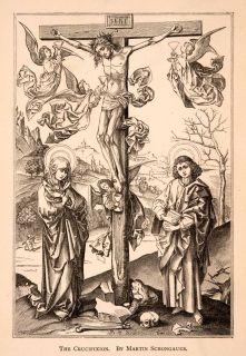 Crucifixion Jesus Angel Christian Christianity Cross Halo