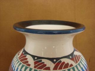 Navajo Indian Pottery Hand Etched Painted Vase by Woods