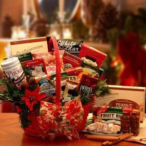 Tidings of Joy Holiday Gift Basket Christmas Gift Basket