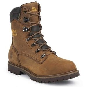Chippewa Boots Mens Brown 55068 Insulated Waterproof Work Boots