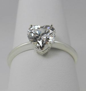 00 CT BRILLIANT HEART CUT SOLITAIRE ENGAGEMENT RING SOLID 14K GOLD