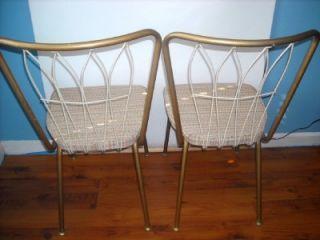 Vtg Mid Century Modern Chromcraft Metal Dining Chairs