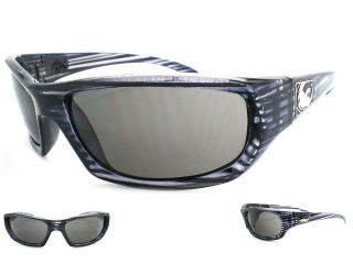 Dragon Mens Chrome Wrap Sunglasses x Ray Frame Grey Lens 720 1795 New