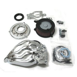 Chrome Skull Air Cleaner Harley Twin Cam Softail FXST FXSTC FXSTD