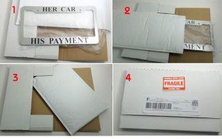 License Plate Frame Chrome color plastic cover frames gift