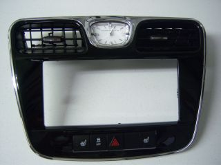 Chrysler 200 Series Navigation Radio Bezel 2012 Dash Trim Clock Heat