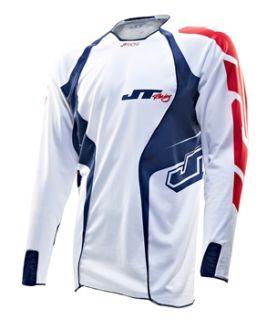 JT Racing Evo Lite Race Jersey   White/Blue 2013  Achetez en ligne