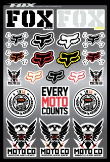 Fox Racing Covert Sticker Kit 2012