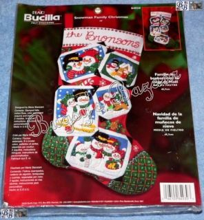 Bucilla Snowman Family Christmas Felt Stocking Kit