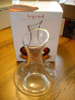 Legend Circle Glass 58oz mouth blown wine decanter new in box