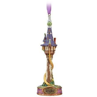 TANGLED EVER AFTER RAPUNZEL TOWER HOLIDAY CHRISTMAS TREE ORNAMENT