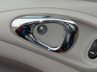 01 Up Chrysler PT Cruiser Chrome Door Buttons 4pc
