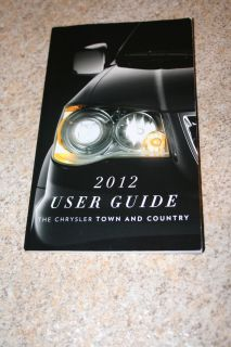 2012 12 Chrysler Town and Country User Guide