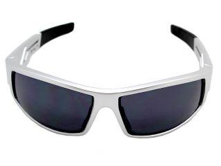 Mens Choppers Sunglasses   Designer Sport Shades   Silver Frame Black
