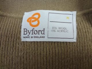 Mens Vtg Wool Byford England Western Cut Country Gentlemans Sweater