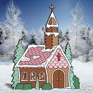 Gingerbread Church Christmas Lawn Yard Art Decoration