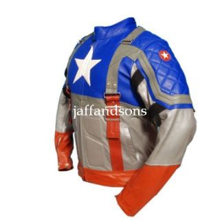 America The First Avenger Chris Evans Genuine Leather Jacket All Sizes
